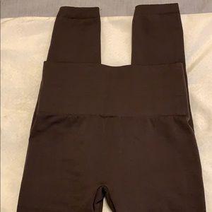 Pants & Jumpsuits - NEW Fleece Lined Brown Leggings